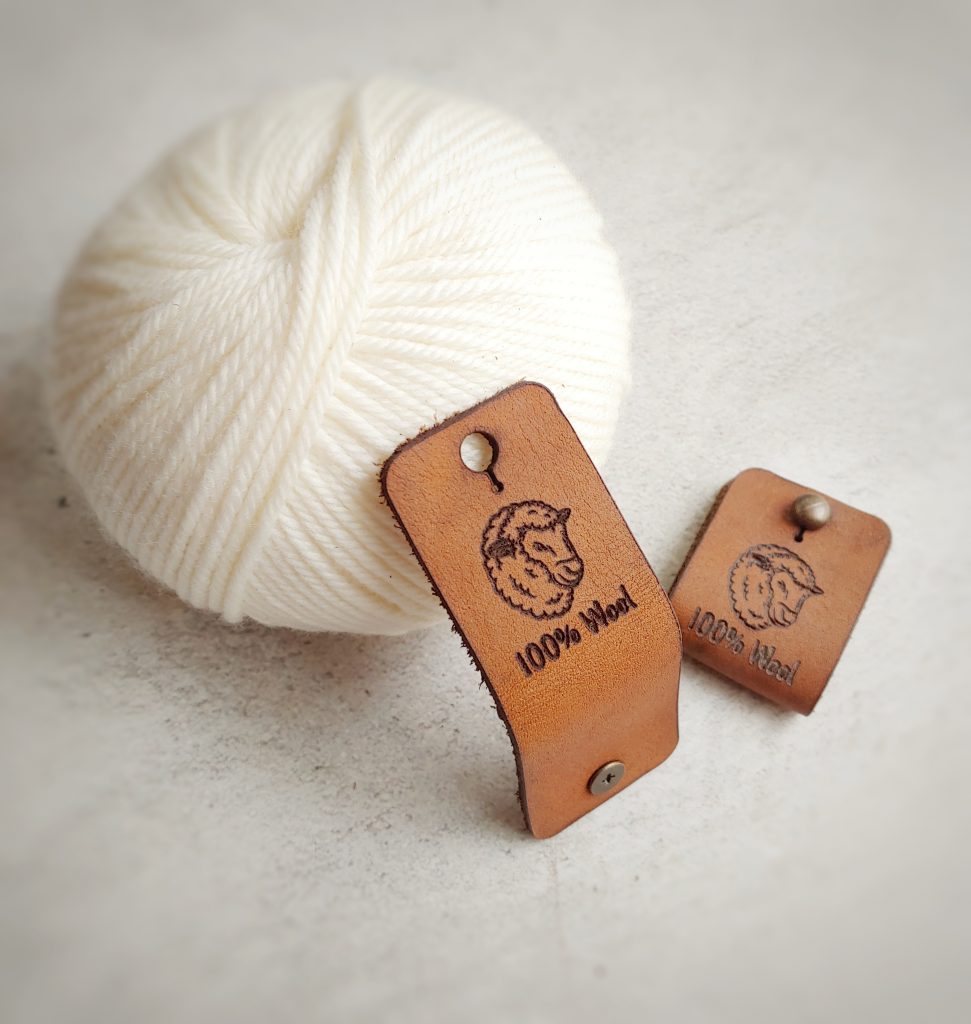 REMOVABLE LEATHER  LABEL - SHEEP