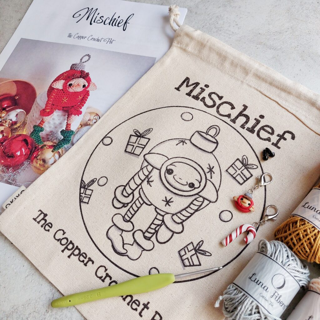 THE COPPER CROCHET POT MISCHIEF KIT - FOLK TALE COLOURS (only 20 available)
